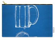 1876 Beer Mug Patent Artwork - Blueprint Carry-all Pouch