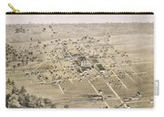 1876 Birds Eye Map Of Mckinney Texas Carry-all Pouch