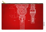 1878 Adjustable Wrench Patent Artwork - Red Carry-all Pouch
