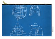 1878 Baseball Catchers Mask Patent - Blueprint Carry-all Pouch by Nikki Marie Smith