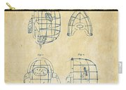 1878 Baseball Catchers Mask Patent - Vintage Carry-all Pouch by Nikki Marie Smith