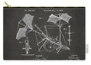 1879 Quinby Aerial Ship Patent - Gray Carry-all Pouch by Nikki Marie Smith