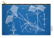 1879 Quinby Aerial Ship Patent Minimal - Blueprint Carry-all Pouch by Nikki Marie Smith