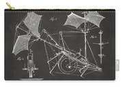 1879 Quinby Aerial Ship Patent Minimal - Gray Carry-all Pouch by Nikki Marie Smith