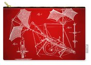 1879 Quinby Aerial Ship Patent Minimal - Red Carry-all Pouch by Nikki Marie Smith