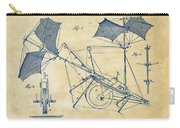 1879 Quinby Aerial Ship Patent Minimal - Vintage Carry-all Pouch by Nikki Marie Smith