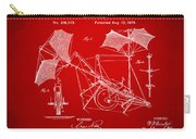 1879 Quinby Aerial Ship Patent - Red Carry-all Pouch
