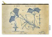 1879 Quinby Aerial Ship Patent - Vintage Carry-all Pouch by Nikki Marie Smith