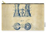 1882 Opera Glass Patent Artwork - Vintage Carry-all Pouch