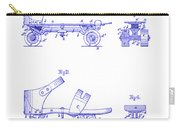 1885 Roller Skate Patent Blueprint Carry-all Pouch