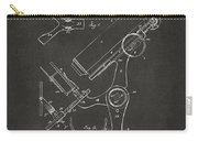 1886 Microscope Patent Artwork - Gray Carry-all Pouch