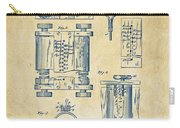 1889 First Computer Patent Vintage Carry-all Pouch