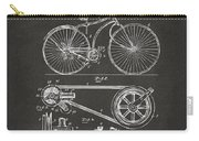 1890 Bicycle Patent Artwork - Gray Carry-all Pouch