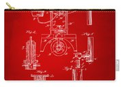1890 Bottling Machine Patent Artwork Red Carry-all Pouch