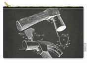 1890 Hammer Patent Artwork - Gray Carry-all Pouch