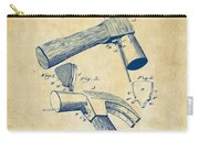 1890 Hammer Patent Artwork - Vintage Carry-all Pouch