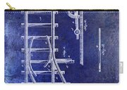 1890 Railway Switch Patent Drawing Blue Carry-all Pouch