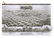 1890 Vintage Map Of Seymour Texas Carry-all Pouch