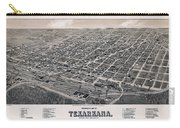 Vintage Perspective Map Of Texarkana Carry-all Pouch