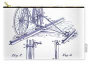 1891 Bicycle Patent Blueprint Carry-all Pouch