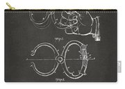 1891 Police Nippers Handcuffs Patent Artwork - Gray Carry-all Pouch