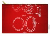 1891 Police Nippers Handcuffs Patent Artwork - Red Carry-all Pouch