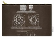 1891 Tesla Electro Magnetic Motor Patent Espresso Carry-all Pouch