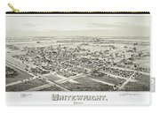 1891 Vintage Map Of Whitewright Texas Carry-all Pouch