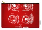 1892 Barker Camera Shutter Patent Red Carry-all Pouch