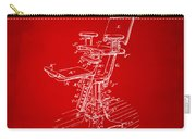 1896 Dental Chair Patent Red Carry-all Pouch