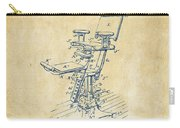 1896 Dental Chair Patent Vintage Carry-all Pouch