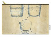 1898 Beer Keg Patent Artwork - Vintage Carry-all Pouch