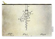1900 Corkscrew Patent Drawing Carry-all Pouch