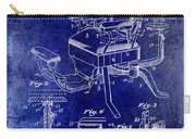 1901 Barber Chair Patent Drawing Blue Carry-all Pouch