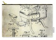 1901 Barber Chair Patent Drawing  Carry-all Pouch