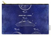 1902 Billiard Ball Patent Drawing Blue Carry-all Pouch
