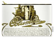 1903 - Columbia Motor Carriage Advertisement Carry-all Pouch