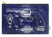 1903 Colt Revolver Patent Drawing Blue Carry-all Pouch