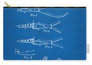1903 Dental Pliers Patent Blueprint Carry-all Pouch