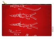1903 Dental Pliers Patent Red Carry-all Pouch