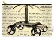 1905 - Yost Electric Manufacturing Company - Toldeo Ohio - Lawn Sprinkler Advertisement Carry-all Pouch