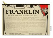 1906 - Franklin Automobile Advertisement - Color Carry-all Pouch