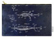 1907 Fishing Lure Patent Blue Carry-all Pouch