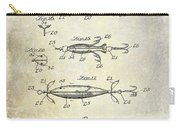 1907 Fishing Lure Patent Carry-all Pouch