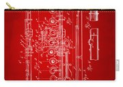 1908 Flute Patent - Red Carry-all Pouch