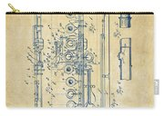 1908 Flute Patent - Vintage Carry-all Pouch