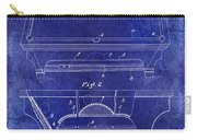 1909 Billiard Table Patent Drawing Blue Carry-all Pouch