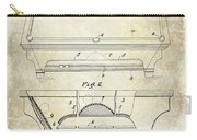 1909 Billiard Table Patent Drawing  Carry-all Pouch