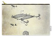 1909 Fishing Lure Patent Drawing Carry-all Pouch