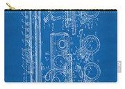 1909 Flute Patent - Blueprint Carry-all Pouch